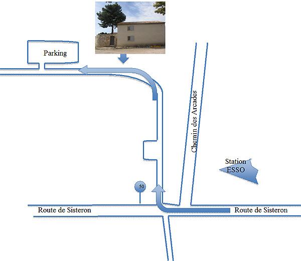 Plan d'accès au four des banes