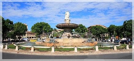 La Rotonde à Aix en Provence. Fontaine emblématique